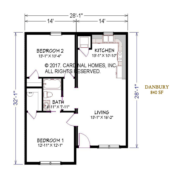 Danbury Floor Plan Image
